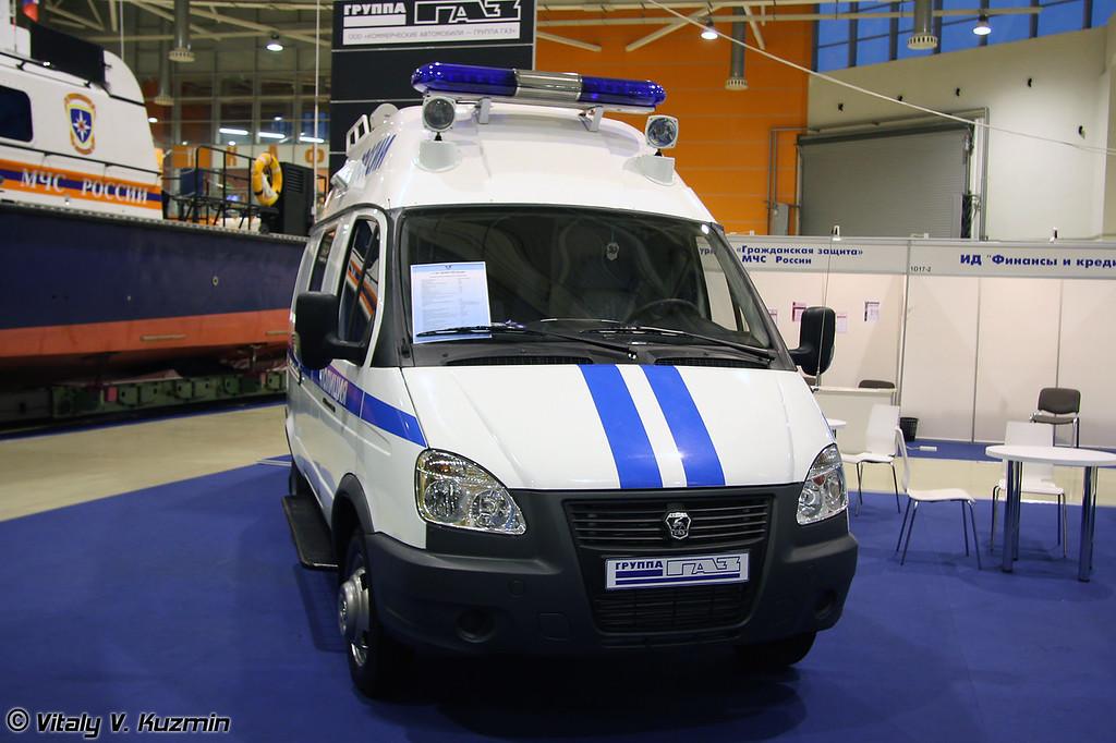Передвижной штабной пункт управления на базе ГАЗ-2705 (Mobile command post on GAZ-2705 base)