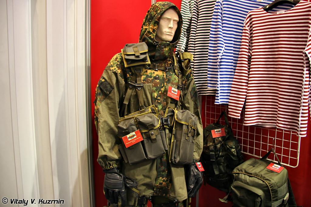 Специальный маскировочный комплект горный Сопка с боевой разгрузочной системой Барс (Sopka camouflage suit and Bars vest)