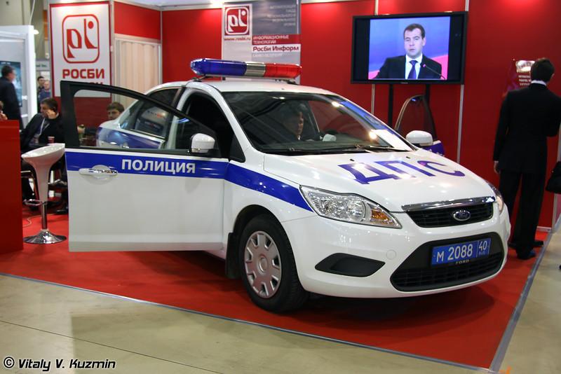 Машина ДПС с бортовым компьютером и терминалом оплаты штрафов по картам (Road police vehicle)