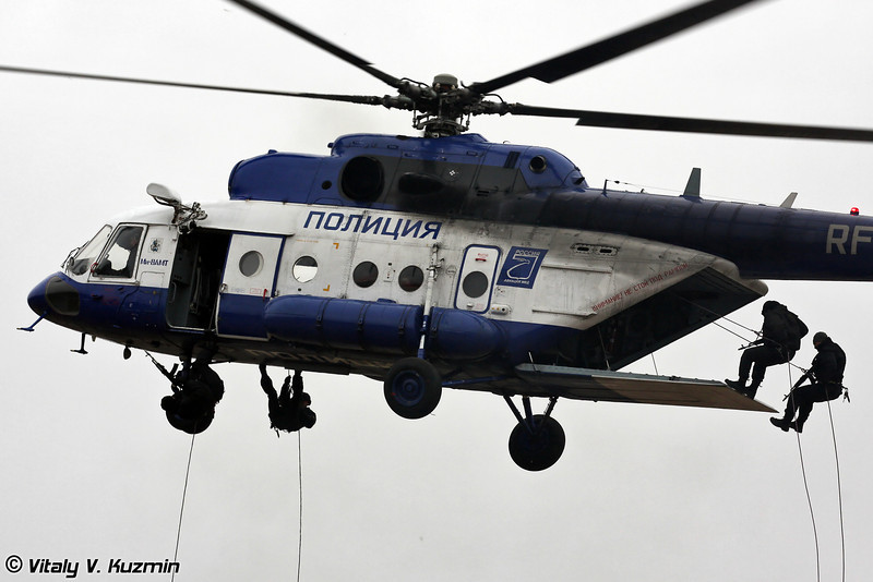 Десантирование штурмовой группы с Ми-8АМТ (Assault group landing from Mi-8AMT)