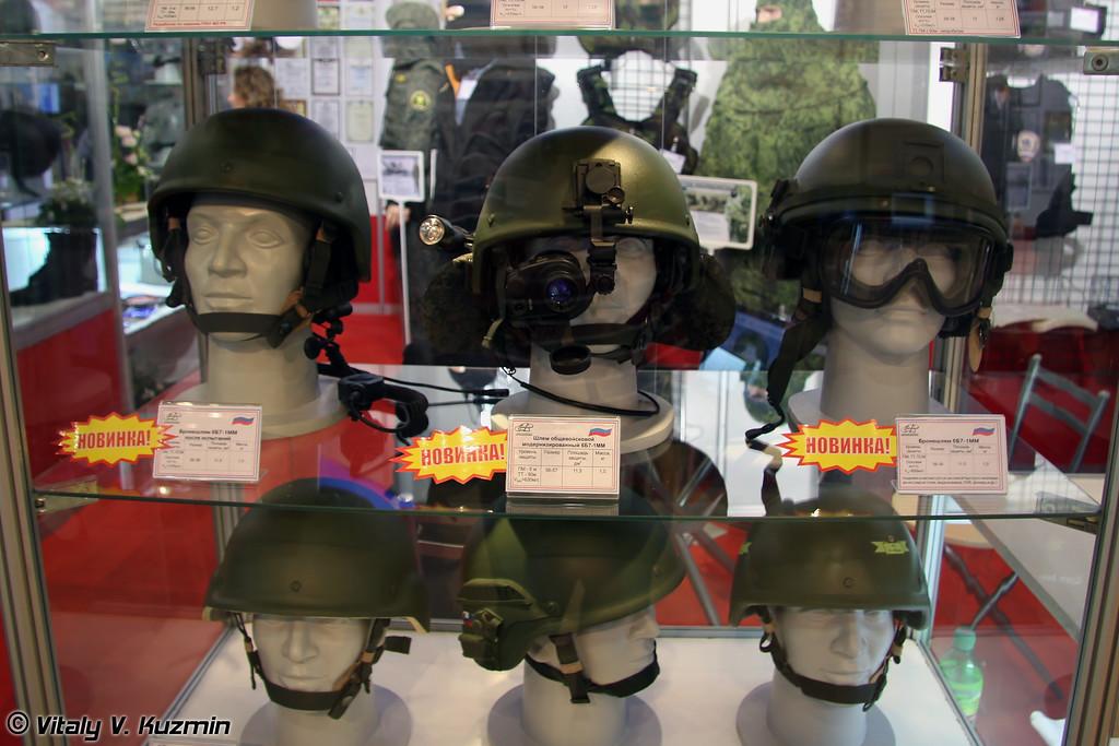 Модернизированные шлемы 6Б7-1ММ с системой быстрого монтажа различных устройств (Upgraded 6B7-1MM helmets)