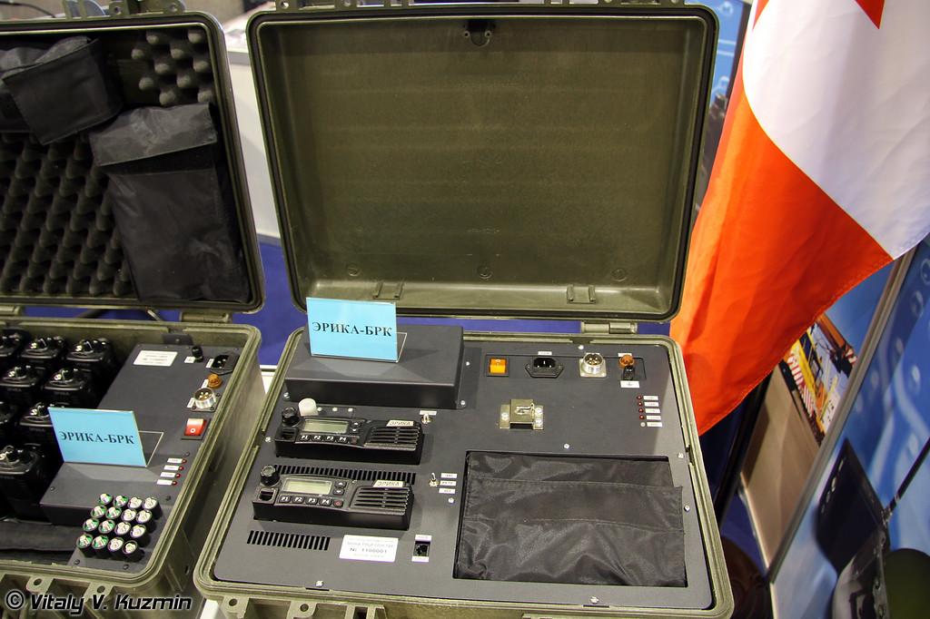 Транспортный модуль центральной радиостанции ЭРИКА-ТМЦР из состава комплекса ЭРИКА-БРК, обеспечивающего функционирование локальной сети радиосвязи (ERIKA-BRK signal system)