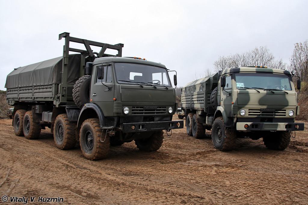 ЛДС-79271 и бронированный КАМАЗ-5350 с защищенным многофункциональным модулем (LDS-79271 and armored KAMAZ-5350 with multi-functional armored module)