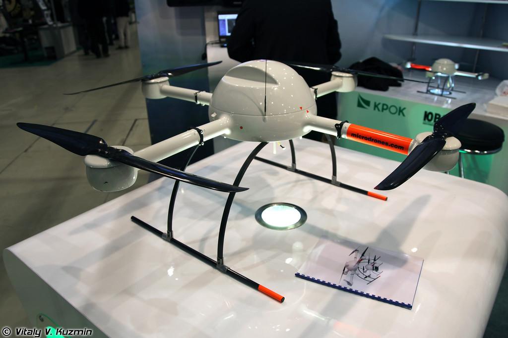 БПЛА Гранат ВА-1000, произведенный в России по лицензии немецкий Microdrones md4-1000 (Granat VA-1000 UAV, russian licensed version of german Microdrones md4-1000)