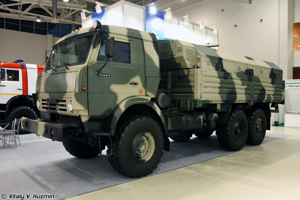 Бронеавтомобиль КАМАЗ-5350 с многофункциональным модулем ММ-501 (Armored KAMAZ-5350 with multifunctional compartment MM-501)