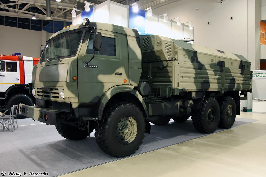 Бронеавтомобиль КАМАЗ-5350 с многофункциональным модулем ММ-501 (Armored KAMAZ-5350 with multifunctional compartment MM-501)