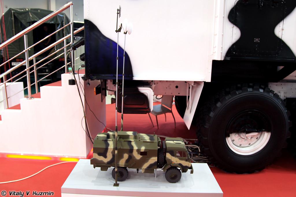 Модель комплексной транспортной ретрансляционной аппаратной связи КАС-ТР (Model of retransmitter vehicle KAS-TR)