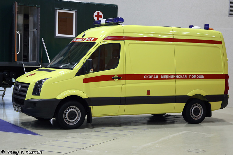Реанимобиль на базе VW Crafter (Ambulance on VW Crafter base for Internal troops)