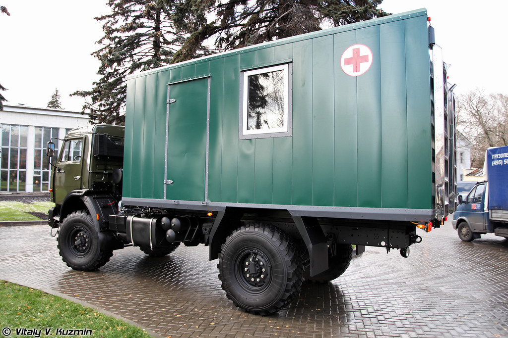 Подвижный флюорографический кабинет на базе КАМАЗ-4326 (Medical mobile fluorography office on KAMAZ-4326 chassis)