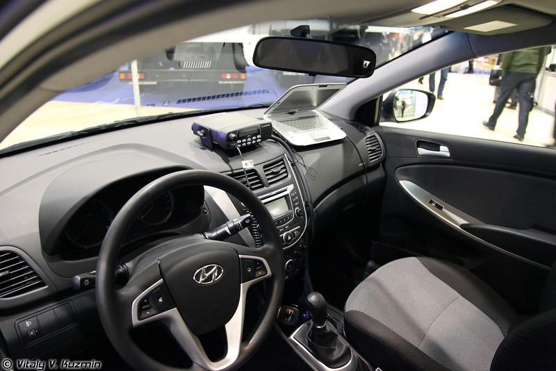 Патрульный автомобиль Хёнде-Солярис-ВО (Hyundai-Solaris-VO patrol car)