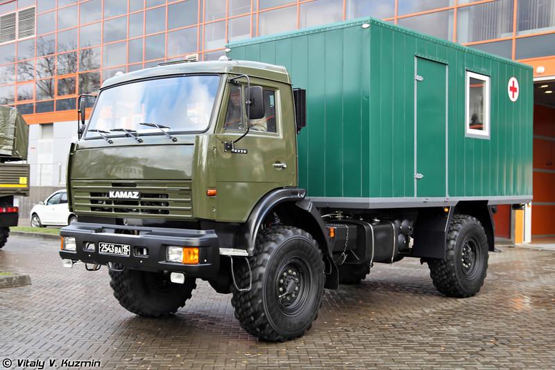 Подвижный флюорографический кабинет на базе КАМАЗ-4326 (Medical mobile fluorography office on KAMAZ-4326 chassis)