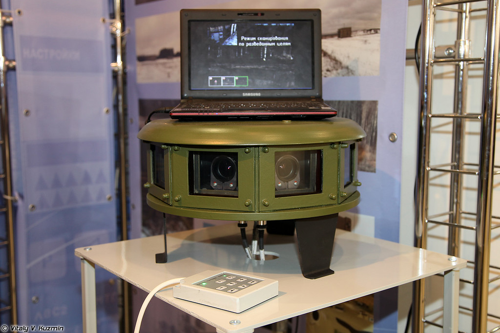 Комплекс панорамного видеообзора системы видеонаблюдения П-307 (Panoramic observation device of P-307 video surveillance system for tracked and wheeled military vehicles)
