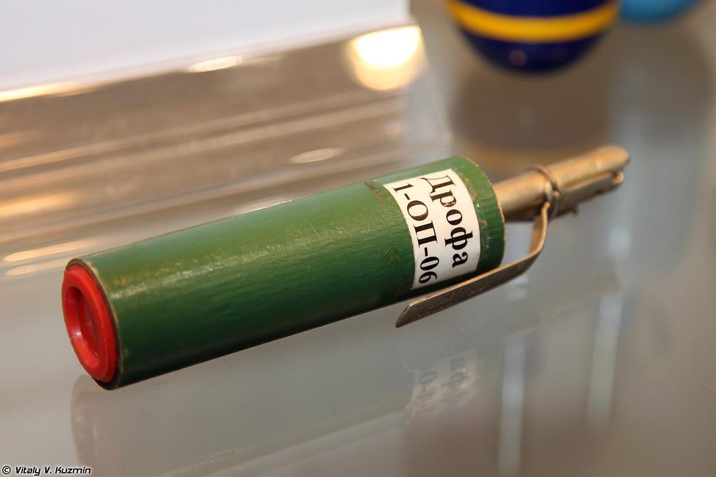 Ручная граната раздражающего и светозвукового действия Дрофа (Drofa gas and flashbang hand grenade)