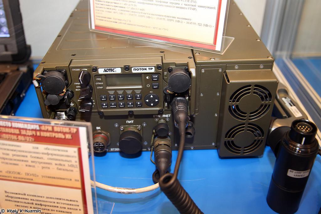 Цифровая радиостанция тактического звена Поток-ТР3003УМ (Potok-TR3003UM radio)