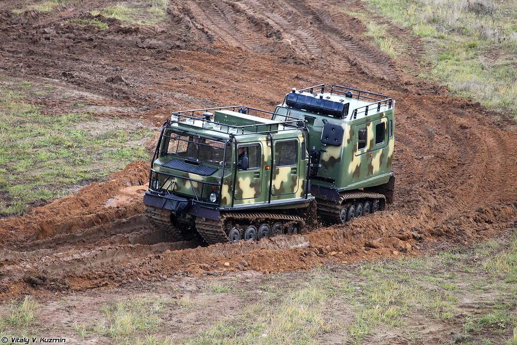 Двухзвенный гусеничный снегоболотоход ГАЗ-3351 (Tracked all-terrain vehicle GAZ-3351)