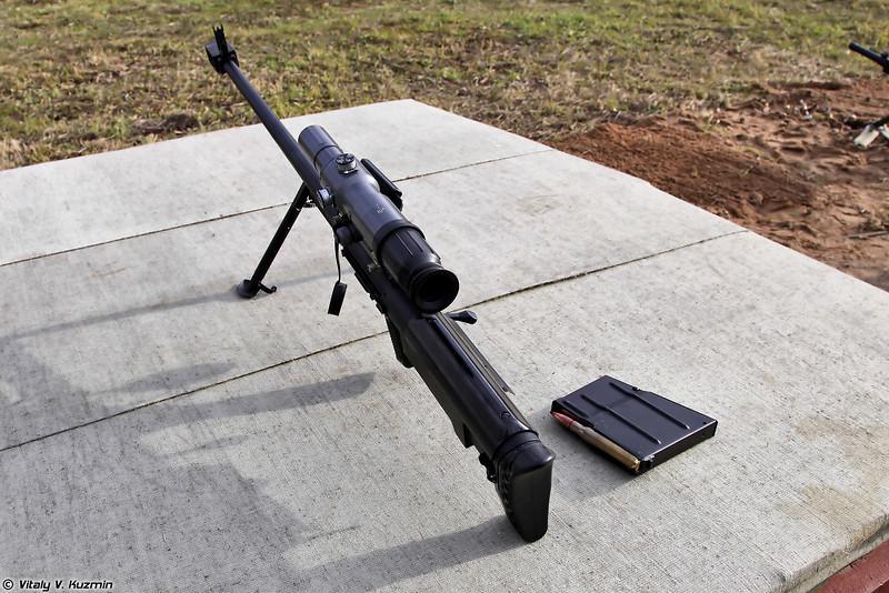 Крупнокалиберная снайперская винтовка АСВК (12.7mm sniper rifle ASVK)