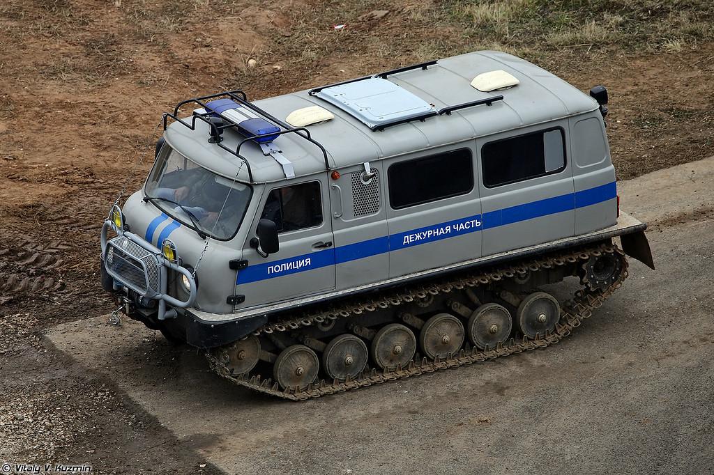 Гусеничный снегоболотоход оперативно-служебный 1994-СДЧ на базе снегоболотохода ЗВМ-2411 Узола (All-terrain tracked vehicle 1994-SDCh)