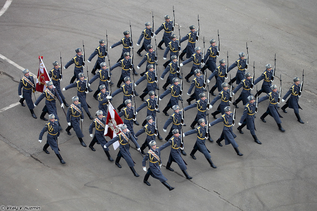 Выступление роты почетного караула 2 пон ОДОН (ODON division Honor Guards company)