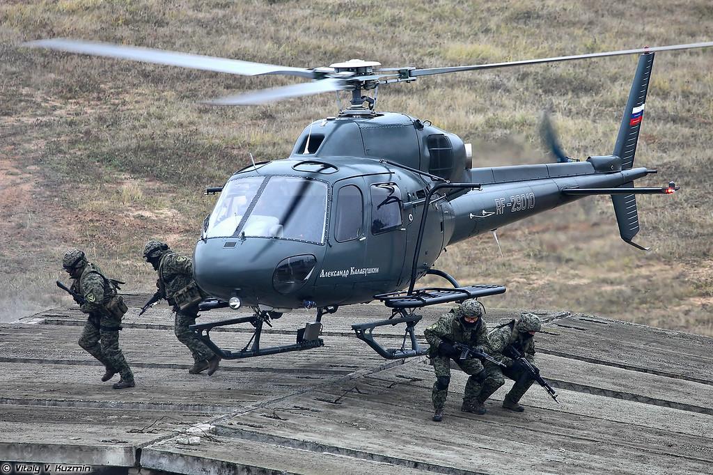 Высадка штурмовой группы СОБР Рысь на крышу здания (SOBR Rys' operators)