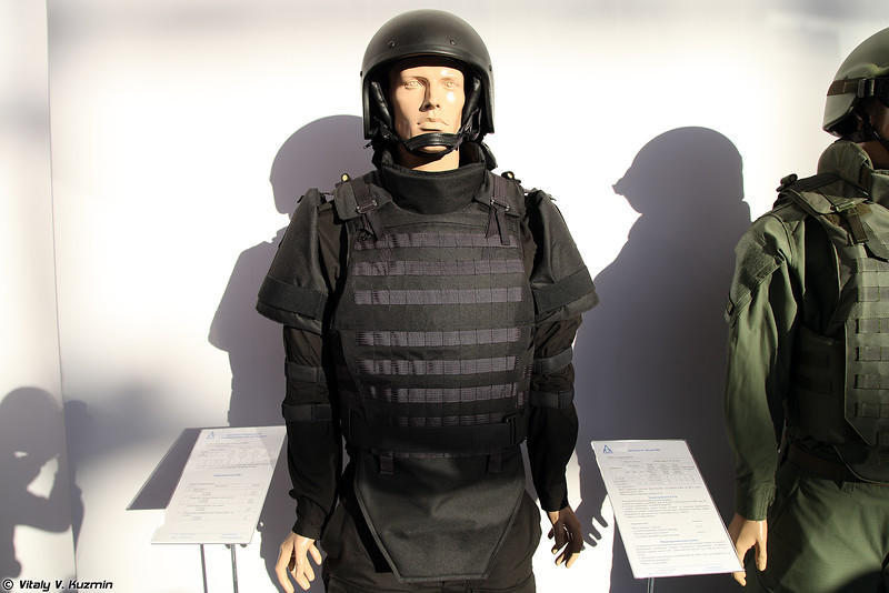 Бронежилет Багарий и шлем ЗШ-1 (Bagariy bulletproof vest and ZSh-1 helmet)