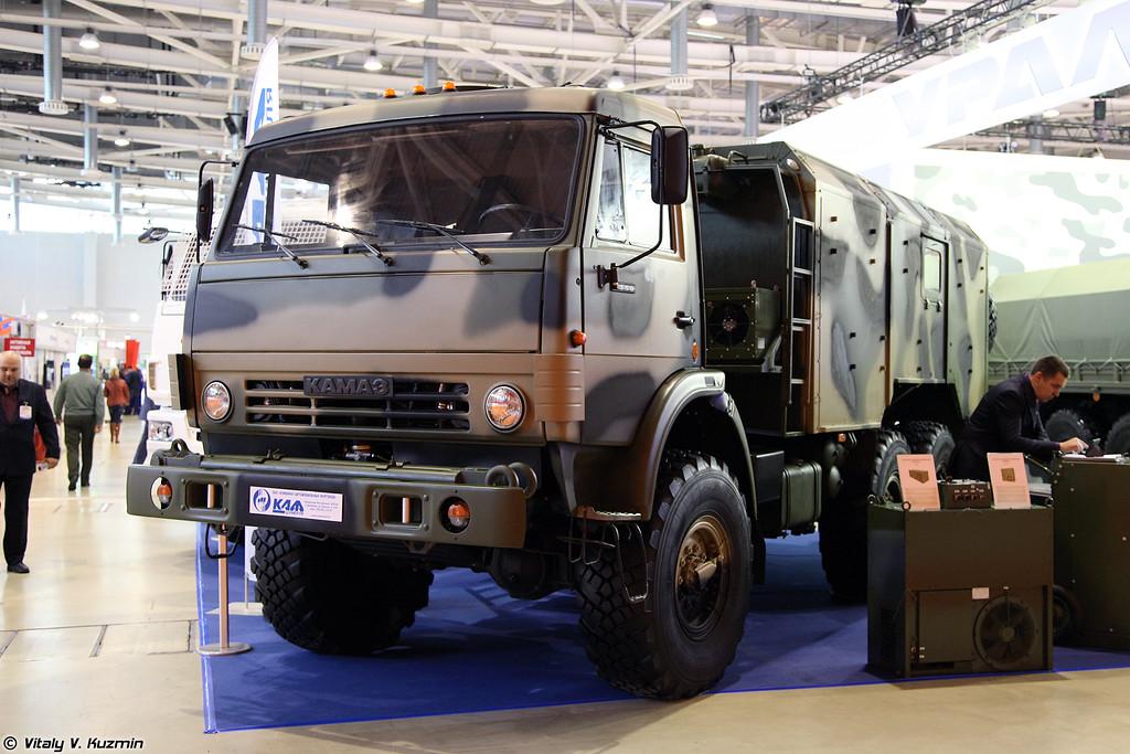 Автомобильный кузов-фургон К5350Д-11Н на шасси КАМАЗ-5350 (Multifunctional compartment K5350D-11N on KAMAZ-5350 chassis)