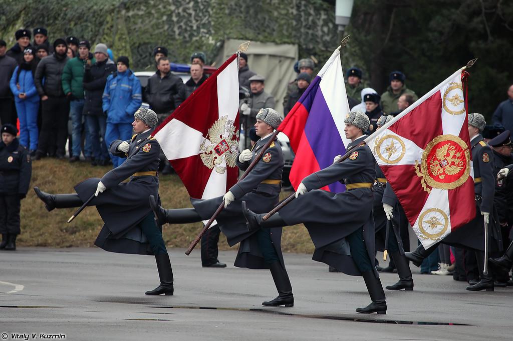 Выступление роты почетного караула одного из полков ОДОН (ODON division Honor Guards company)