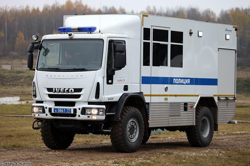 Передвижной комплекс по поиску и обезвреживанию взрывоопасных объектов АПОВП Балкон (APOVP Balkon EOD vehicle)