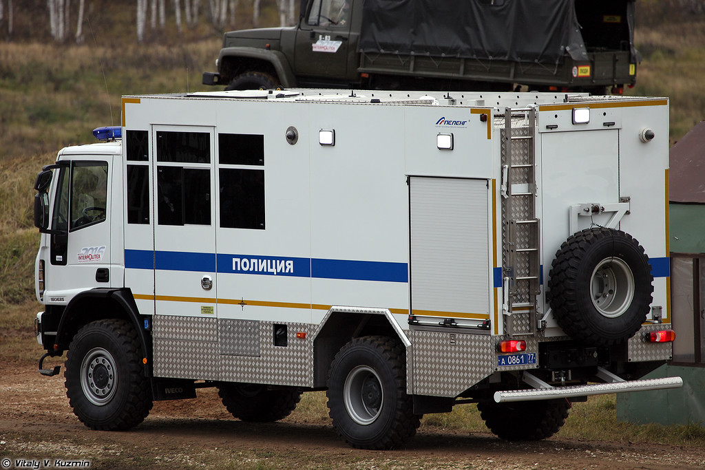 Передвижной комплекс по поиску и обезвреживанию взрывоопасных объектов АПОВП (APOVP EOD vehicle)