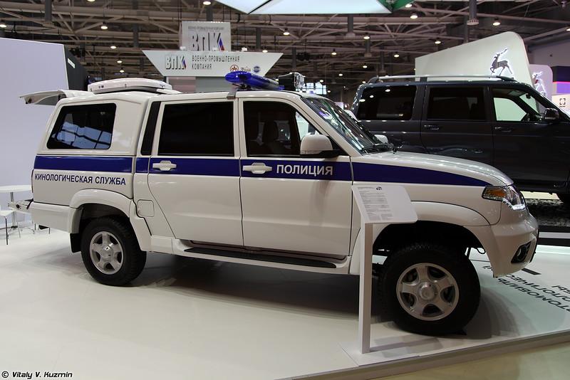 УАЗ Пикап Кинолог (UAZ Pickup Kinolog for K-9 units)