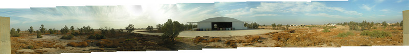 The backside of the hanger in Camp Delta