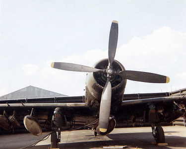 A1E Sky Raider (WWII plane).  Had two at the base for close air support.