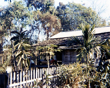 Ubon.  Typical bungalow that people lived in.