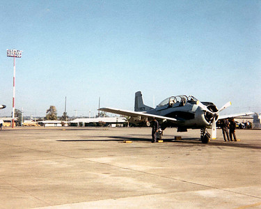 Thi Air Force T 28, don't every remember them doing much, buzz the flight line every now and then.