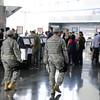 Sergeant Candyce Collier and Specialist Christopher Ruiz assigned to Joint Task Force – Empire Shield alongside PAPD, DHS, TSA and other agencies provide security presence during a heightened security on the 9/11 anniversary on September 11, 2011 at JFK Airport, Queens, NY. JTF-ES provides a heavy visible military presence to deter terrorist threat and provide a show of force across New York City. With President Barack Obama, former President George W. Bush and many other dignitaries attending ceremonies citywide, multiple local, city, state and federal law enforcement agents has been deployed throughout New York City.<br /> <br /> (U.S. Air Force photo/Technical Sgt. Marcus P. Calliste/Released)