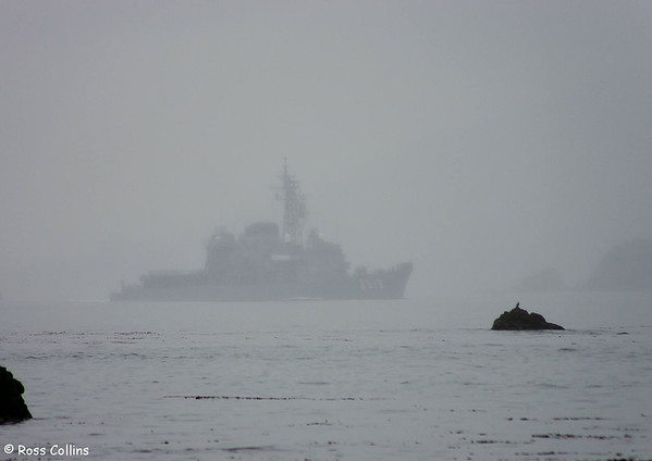 Japanese Naval Vessels Leave Wellington Harbour, 1 August 2007