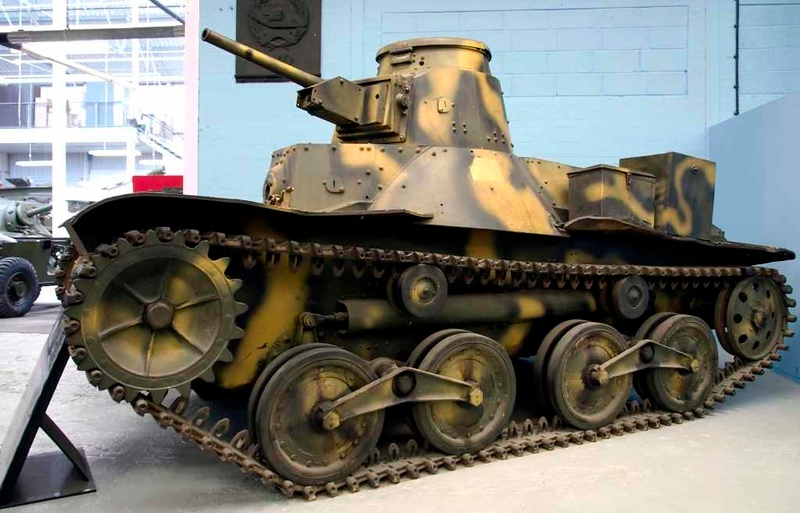 Japanese Type 95 Ha-Go light tank, Bovington tank museum, 1 June 2008.
