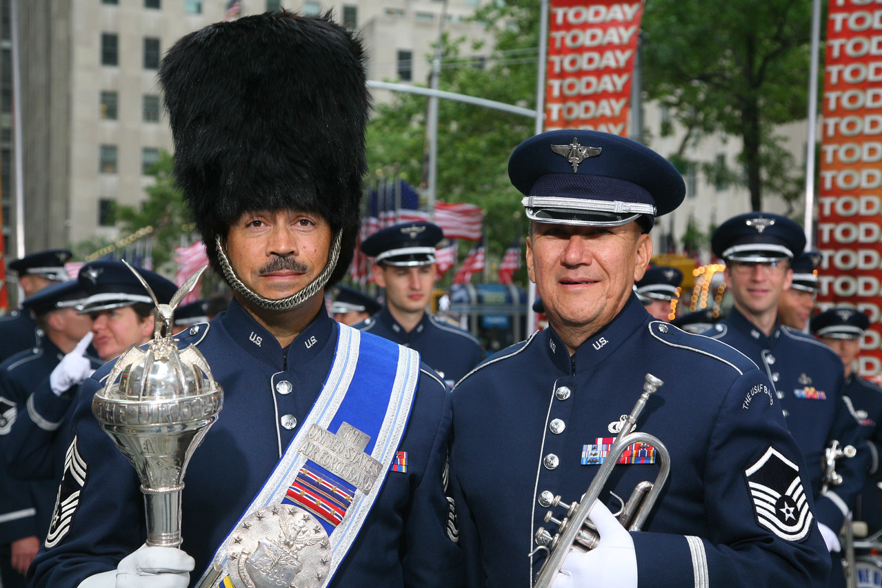 With Chief Ed Teleky, Drum Major USAF band