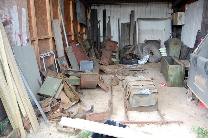 Scout armoured car parts awaiting restoration