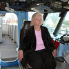 Jenny in Captains Chair on Bridge