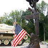 The dedication of the Johnny Ro Veteran's Memorial Park will be this Saturday at 1 p.m. Monuments like this line a walk way to the tank that sits at the park. SENTINEL & ENTERPRISE/JOHN LOVE