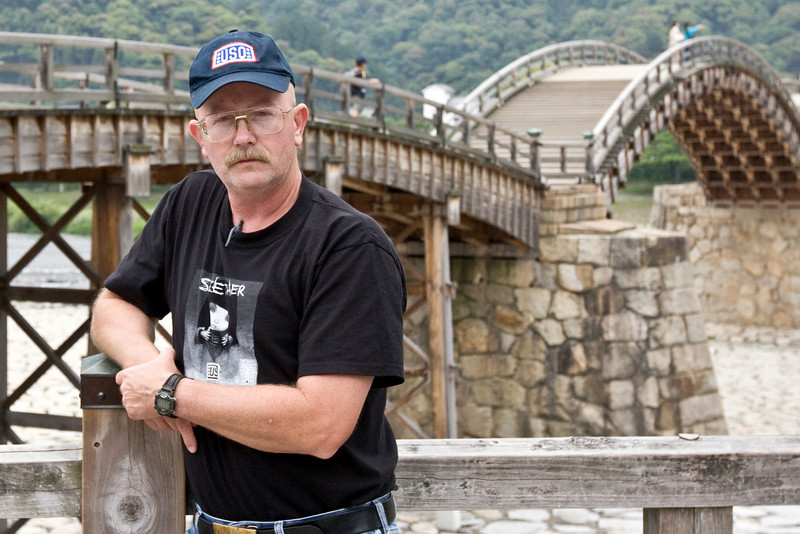 At the Kintai Bridge, Iwakuni, Japan. May 27, 2009.