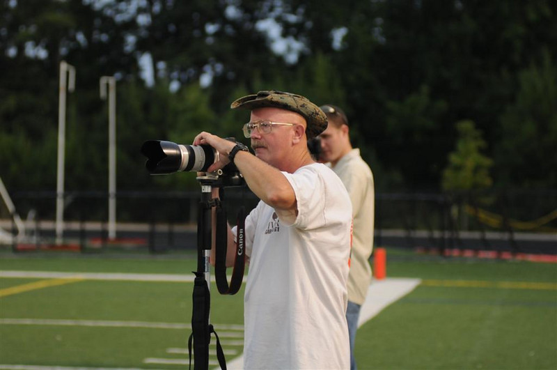 Me shooting Georgia Generals football. Photo by Mary Caldwell.