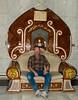 Me, on one of Sadam's thrones.