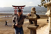 Me. In front of the great Toii-O, Miya Jima Island, Japan. Oct. 1985.