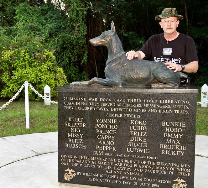 December 16, 2010, U. S. Naval Base, Guam. War Dog Memorial at the U. S. Marine Corps War Dog Cemetery.