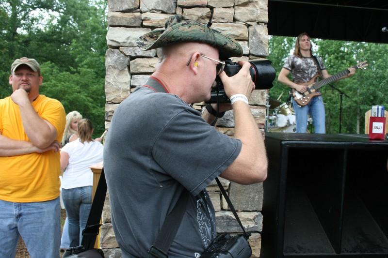 Shooting an outdoor concert in Atlanta.