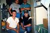 Standing (L) LCpl. Mitch Laubach (R) LCpl. Dan Fierro.<br /> Kneeling (L) Cpl. Doug Hermson (R) Me.<br /> <br /> Upper MAU Camp, Republic of the Phillippines. Feb., 1987.