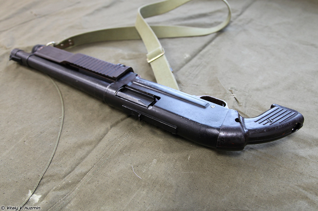 Карабин специальный КС-23М Дрозд, вид справа без приклада (KS-23M shotgun, right view without buttstock)