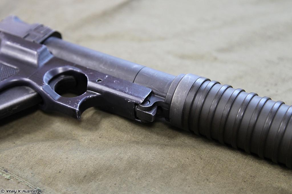 Пистолет Туляк детальный вид отдельных частей правой стороны (Tulyak pistol detailed view of the parts from the right side)