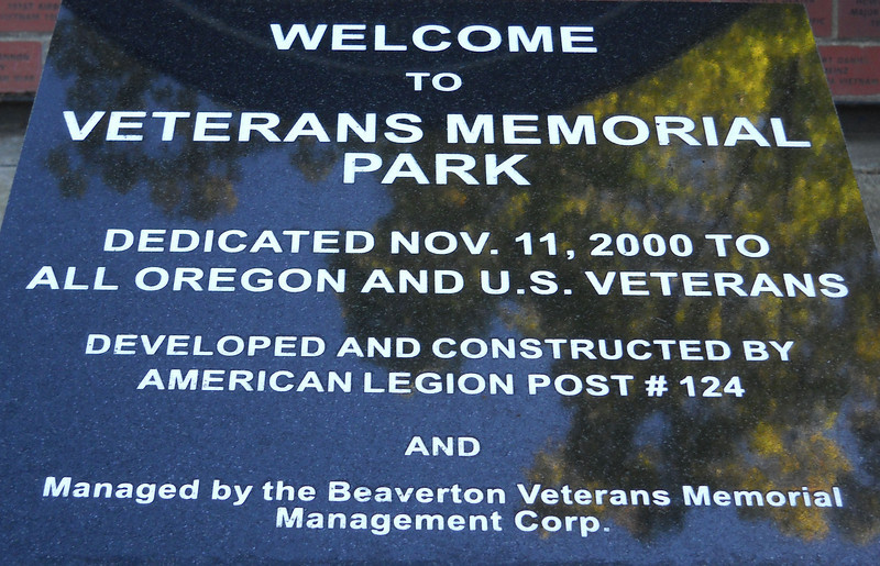 Veterans Memorial Park, Beaverton, Oregon 2009